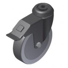 Castor D125 swivel with brake